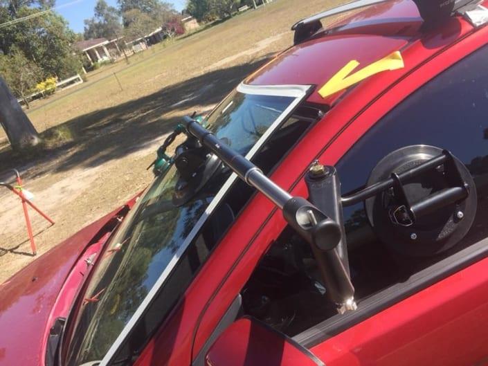 Windscreen Replacement Brisbane Red Car